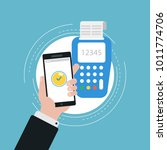 mobile payment  payment by... | Shutterstock .eps vector #1011774706