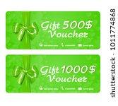 gift voucher template with...   Shutterstock .eps vector #1011774868
