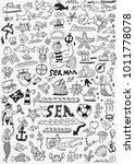 sea life   doodle set | Shutterstock .eps vector #1011778078