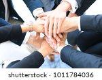 group of businessman team... | Shutterstock . vector #1011784036