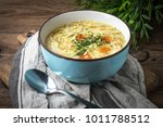 broth   chicken soup with... | Shutterstock . vector #1011788512