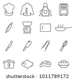 chef or cook tools   equipment... | Shutterstock .eps vector #1011789172