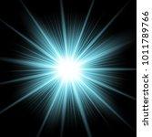 sunlight with lens flare effect ... | Shutterstock .eps vector #1011789766