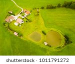 aerial view of fishing ponds... | Shutterstock . vector #1011791272