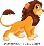 cute lion cartoon isolated on... | Shutterstock .eps vector #1011792895