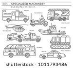 specialized machines  emergency ... | Shutterstock .eps vector #1011793486
