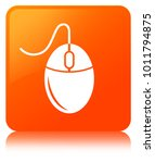 mouse icon isolated on orange...   Shutterstock . vector #1011794875