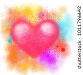 colorful splash heart  love...   Shutterstock . vector #1011796642