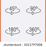 angle 45  90  180  360 degrees... | Shutterstock .eps vector #1011797008