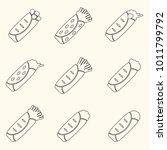 set of outline tortilla food...   Shutterstock .eps vector #1011799792