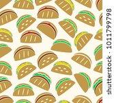 set of color tortilla tacos...   Shutterstock .eps vector #1011799798