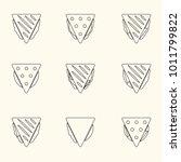 set of outline tortilla or...   Shutterstock .eps vector #1011799822