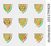 set of color tortilla or...   Shutterstock .eps vector #1011799828