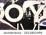 old posters ripped torn creased ... | Shutterstock . vector #1011801496
