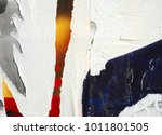 old posters ripped torn creased ... | Shutterstock . vector #1011801505