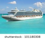 luxury cruise ship sailing from ... | Shutterstock . vector #101180308