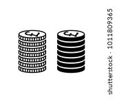 stack of pound sterling coins.... | Shutterstock .eps vector #1011809365