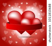 3d hearts  vector illustration  ...   Shutterstock .eps vector #1011810688