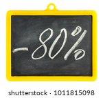 blackboard isolated on white | Shutterstock . vector #1011815098