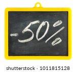 blackboard isolated on white | Shutterstock . vector #1011815128