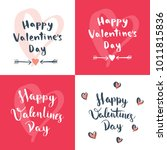 a set of four valentine's day... | Shutterstock .eps vector #1011815836