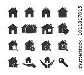 vector image of set of house... | Shutterstock .eps vector #1011817015
