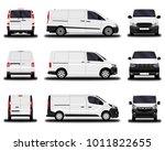 realistic cargo vans. front... | Shutterstock .eps vector #1011822655