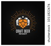 beer hops logo on black... | Shutterstock .eps vector #1011822676