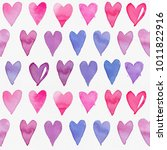 seamless watercolor pattern... | Shutterstock . vector #1011822916