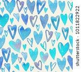 seamless watercolor pattern... | Shutterstock . vector #1011822922