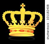 kings crown on black  vector ... | Shutterstock .eps vector #101182408