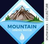 vector mountain water logo or... | Shutterstock .eps vector #1011827188