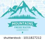 vector mountain water... | Shutterstock .eps vector #1011827212