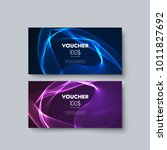 gift voucher templates. set of... | Shutterstock .eps vector #1011827692