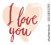 i love you happy valentines day ... | Shutterstock .eps vector #1011831292