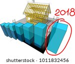 3d illustration of simple... | Shutterstock .eps vector #1011832456