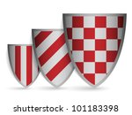 red and silver coats of arms | Shutterstock .eps vector #101183398