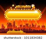 vector hollywood background... | Shutterstock .eps vector #1011834382