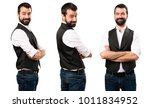 set of cool man with his arms... | Shutterstock . vector #1011834952