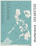 philippines map   vintage high...   Shutterstock .eps vector #1011837232