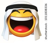 arab emoji isolated on white... | Shutterstock . vector #1011838336