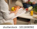 close up image of dietitian in... | Shutterstock . vector #1011838582
