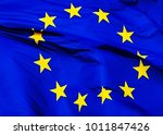 the flag of the european union  ... | Shutterstock . vector #1011847426