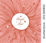 rose linear circle background   Shutterstock .eps vector #101184802