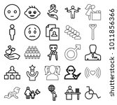 human icons. set of 25 editable ... | Shutterstock .eps vector #1011856366