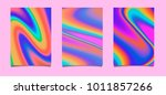 pastel holographic texture on... | Shutterstock .eps vector #1011857266