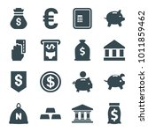 banking icons. set of 16... | Shutterstock .eps vector #1011859462