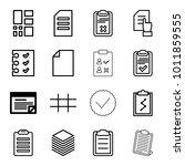 list icons. set of 16 editable... | Shutterstock .eps vector #1011859555