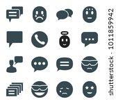 chat icons. set of 16 editable... | Shutterstock .eps vector #1011859942