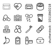 healthcare icons. set of 16... | Shutterstock .eps vector #1011860218